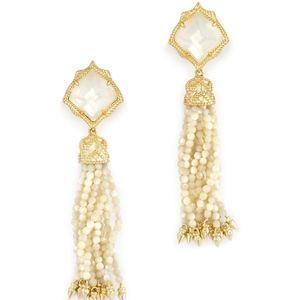 Kendra Scott Misha Statement Earrings Ivory Pearl